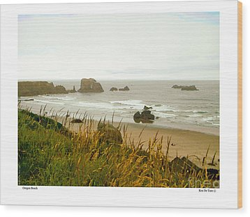 Wood Print featuring the digital art Oregon Beach by Kenneth De Tore