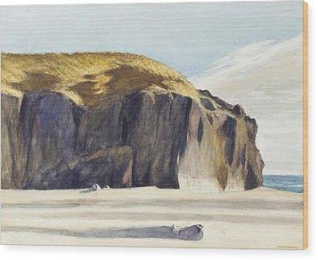 Oregon Coast Wood Print by Edward Hopper