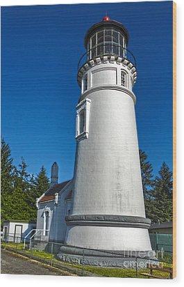 Oregon Coast - Light House Wood Print by Gregory Dyer
