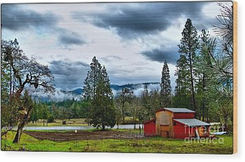 Oregon Farm Blessing Wood Print by Julia Hassett