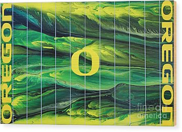 Oregon Football Wood Print