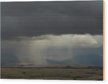 Oregon Rain Wood Print