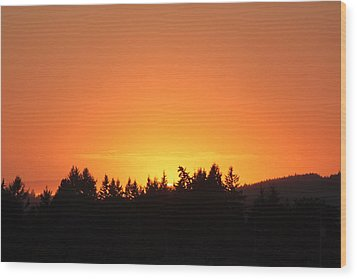 Oregon Sunset Wood Print by Melanie Lankford Photography