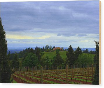 Wood Print featuring the photograph Oregon Wine Country by Debra Kaye McKrill