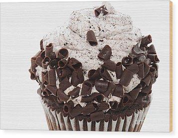 Oreo Cookie Cupcake 2 Wood Print by Andee Design