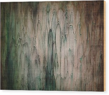 Organic Greens Wood Print by Tamara Bettencourt