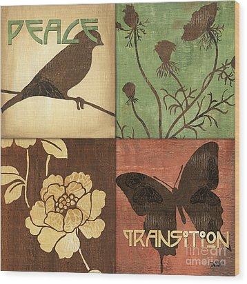 Organic Nature 1 Wood Print by Debbie DeWitt