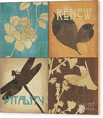 Organic Nature 4 Wood Print by Debbie DeWitt