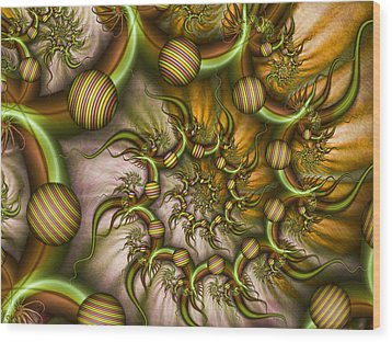 Wood Print featuring the digital art Organic Playground by Gabiw Art