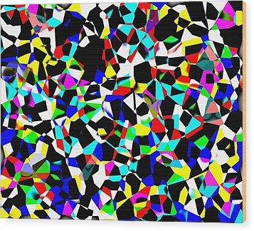 Organized Chaos Wood Print by Jordan Judd