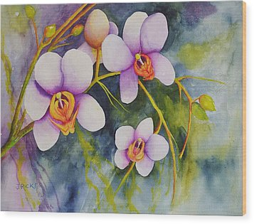 Orchids In My Garden Wood Print
