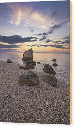 Orient Point Calm Wood Print