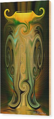 Wood Print featuring the digital art Orient - The Jar by rd Erickson
