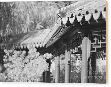 Wood Print featuring the photograph Oriental Roof #2 by George Mount