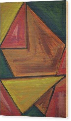 Origami 2012 Wood Print by Drea Jensen