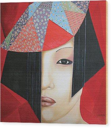 Origami Wood Print by Alexandra Louie