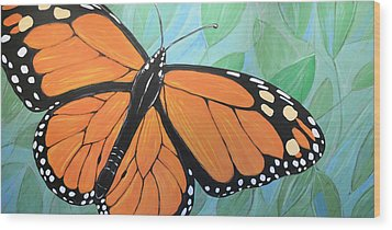 Wood Print featuring the painting Original Abstract Painting Butterfly Print ... Monarch by Amy Giacomelli