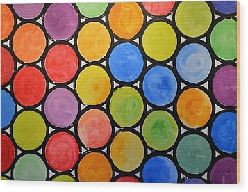 Wood Print featuring the painting Original Abstract Painting Circles Print ... Watercolor Windows by Amy Giacomelli