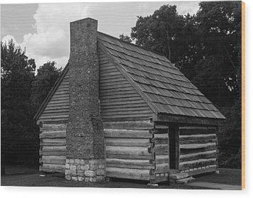 Wood Print featuring the photograph Original Cabin Of President Andrew Jackson by Robert Hebert