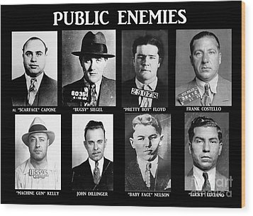 Original Gangsters - Public Enemies Wood Print by Paul Ward