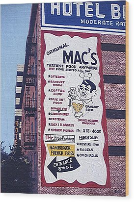 Original Mac's Wood Print by Paul Guyer