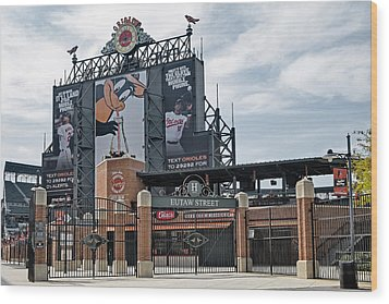 Oriole Park At Camden Yards Wood Print by Susan Candelario