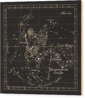 Orion Constellations, 1829 Wood Print by Science Photo Library