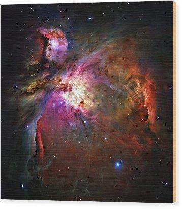 Orion Nebula Wood Print by Ricky Barnard