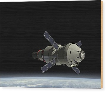 Orion Service Module Wood Print by Movie Poster Prints