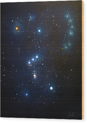 Orion The Hunter Wood Print by Timothy Benz