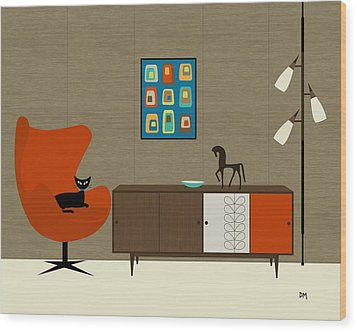 Orla Kiely Cabinet Wood Print by Donna Mibus