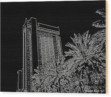 Orleans High Rise Wood Print by Joseph Baril