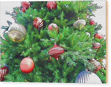 Ornaments So Bright Wood Print by Audreen Gieger