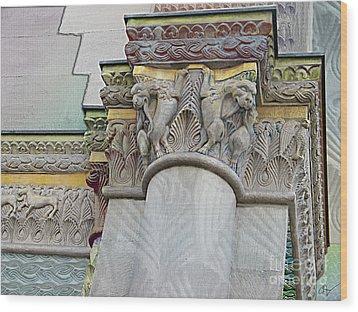 Ornate Columns Giclee Wood Print by CR Leyland