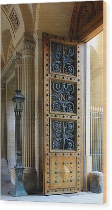 Ornate Door Wood Print by Andrew Fare
