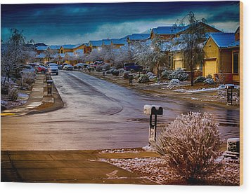 Oro Valley Winter No.54 Wood Print