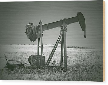 Orphans Of The Texas Oil Fields Wood Print