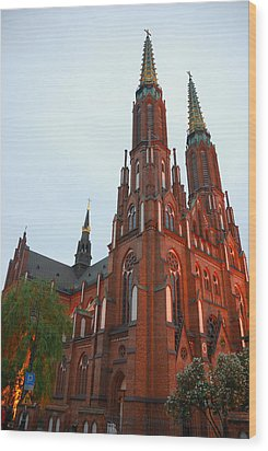 Wood Print featuring the photograph St. Florian's Cathedral by Steven Richman