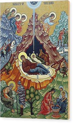 Orthodox Nativity Of Christ Wood Print