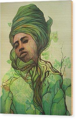 Osanyin Wood Print