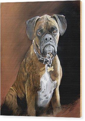 Oscar Wood Print by Artist Karen Barton