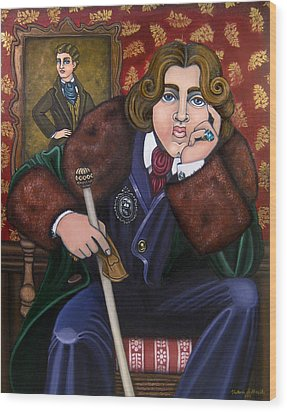 Oscar Wilde And The Picture Of Dorian Gray Wood Print by Victoria De Almeida