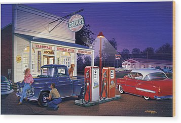 Oscar's General Store Wood Print by Bruce Kaiser