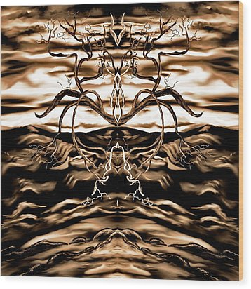 Wood Print featuring the digital art Osmar - The Lord Of The Second Dimension by Yolanda Raker