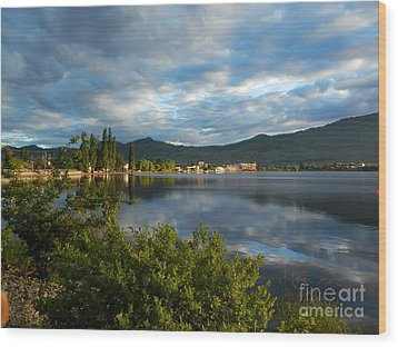 Osoyoos - Quiet Reflection Wood Print by Margaret McDermott
