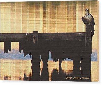 Osprey Wood Print by Cheryl Lynne  Leech-Johnson