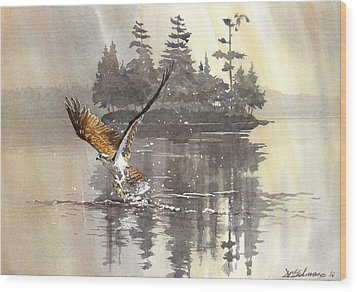 Osprey Hunting No.2 Wood Print