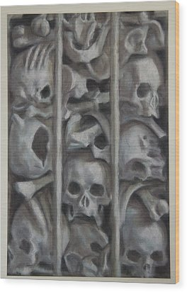 Ossuary Wood Print by Paez  Antonio