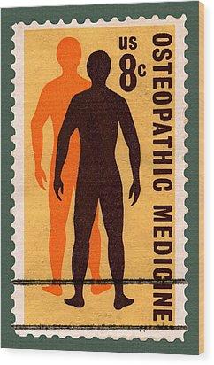 Osteopathic Medicine Stamp Wood Print