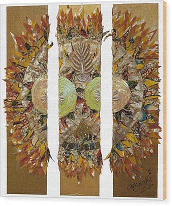 Osun Sun Wood Print by Apanaki Temitayo M